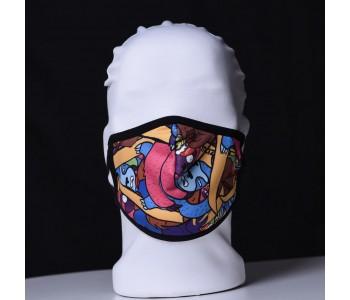 Детска трипластова защитна маска за многократна употреба CARTOONS
