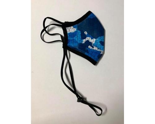 Трипластова защитна маска за многократна употреба NAVY